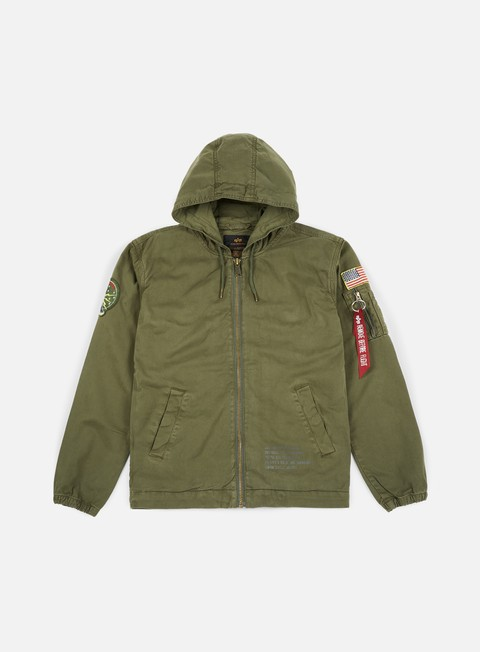 giacche alpha industries newport usaf jacket dark olive