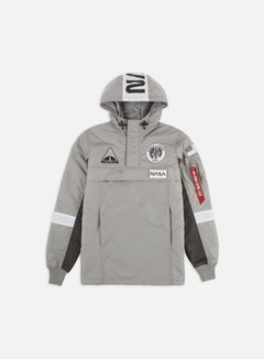 Alpha Industries - Space Camp Anorak Jacket, Silver