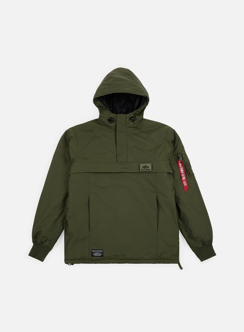 giacche alpha industries wp nasa anorak dark green