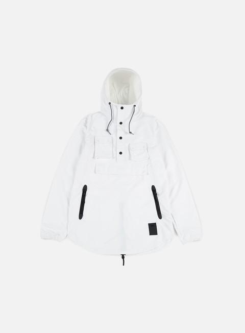 giacche asics premium jacket white