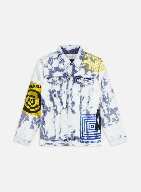 Outlet e Saldi Giacche Intermedie Calvin Klein Jeans Foundation Slim Denim Jacket
