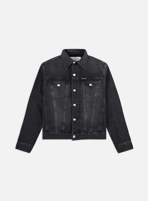 Outlet e Saldi Giacche Leggere Calvin Klein Jeans Foundation Slim Denim Jacket