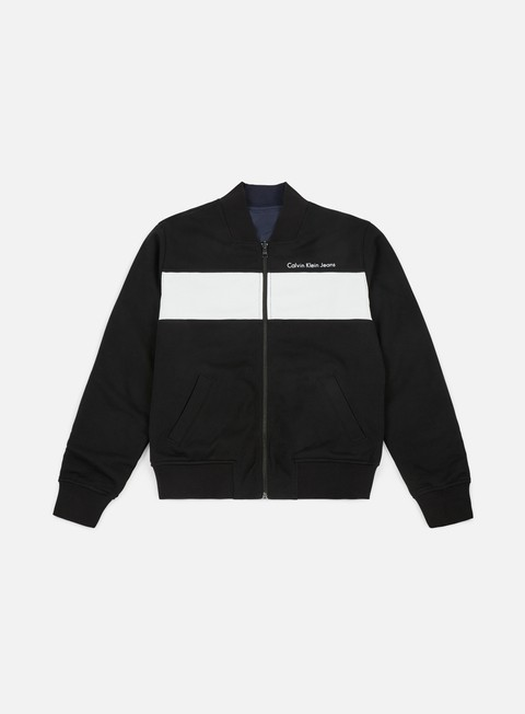 giacche calvin klein jeans harsos reversible jacket ck black
