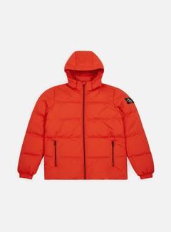 Calvin Klein Jeans - Hooded Down Jacket, Pumpkin Red