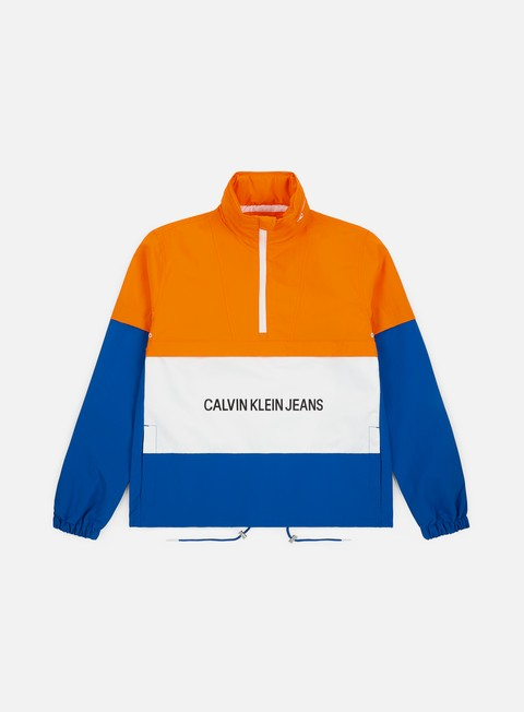 Outlet e Saldi Giacche Leggere Calvin Klein Jeans Insitutional Logo Pop Over Jacket