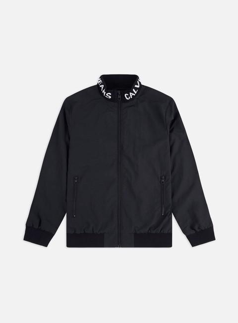 Outlet e Saldi Giacche Leggere Calvin Klein Jeans Institutional Logo Collar Nylon Jacket