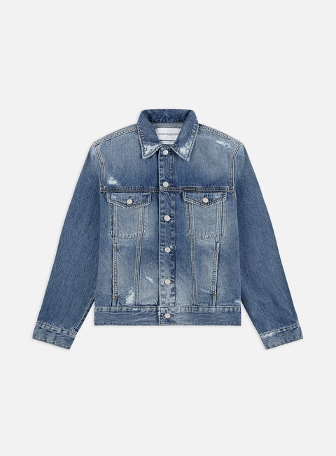 Outlet e Saldi Giacche Leggere Calvin Klein Jeans Modern Classic Trucker Jacket