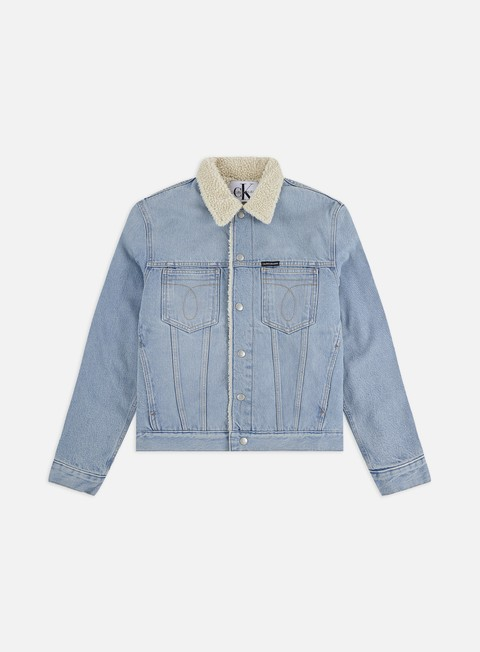 Outlet e Saldi Giacche Invernali Calvin Klein Jeans Omega Slim Sherpa Denim Jacket