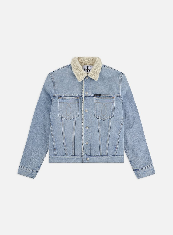 Calvin Klein Jeans Omega Slim Sherpa Denim Jacket