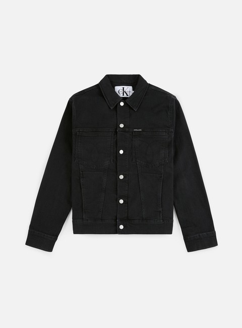 Outlet e Saldi Giacche Leggere Calvin Klein Jeans Oversized Iconic Ome Trucker Jacket