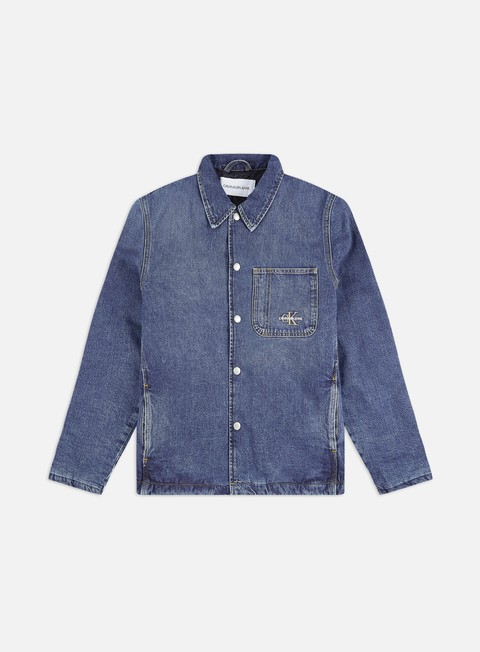 Outlet e Saldi Giacche Intermedie Calvin Klein Jeans PKT Padded Shirt Jacket