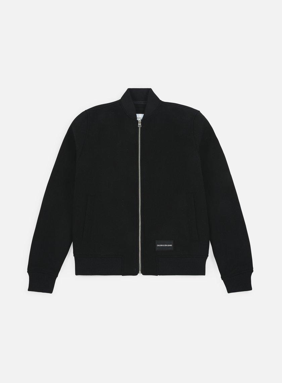 Calvin Klein Jeans Wool Blend Bomber Jacket