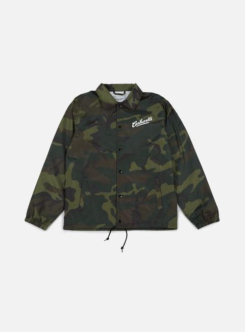 giacche carhartt carhartts coach jacket camo combat green white