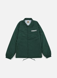 Carhartt - College Coach Jacket, Conifer/White 1