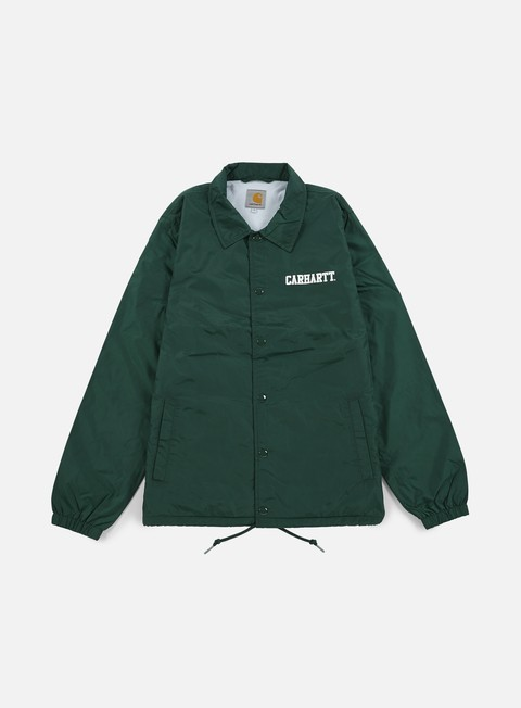giacche carhartt college coach jacket conifer white