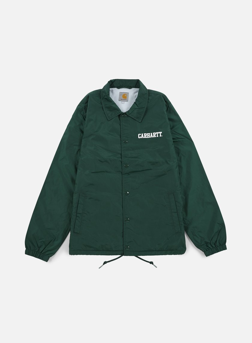 Carhartt - College Coach Jacket, Conifer/White