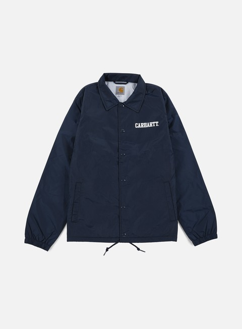 giacche carhartt college coach jacket navy white