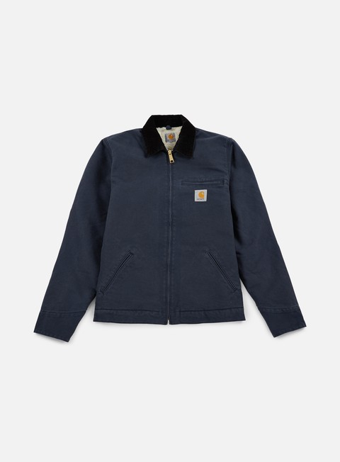 giacche carhartt detroit jacket navy black rinsed