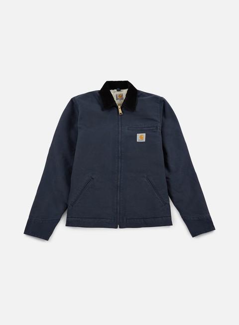 giacche carhartt detroit jacket navy black rinsed