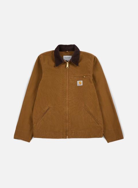 giacche carhartt detroit spring jacket hamilton brown tobacco rinsed