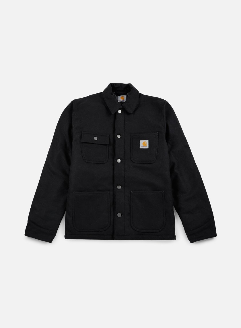 Carhartt - Lined Michigan Chore Coat, Black Rigid