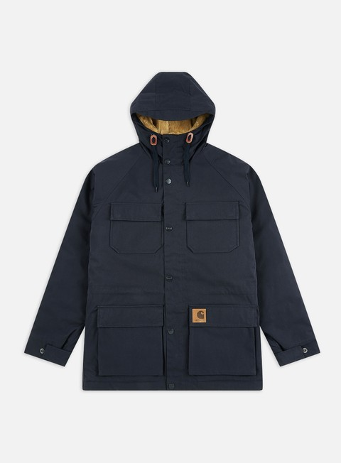 giacche carhartt mentley jacket dark navy