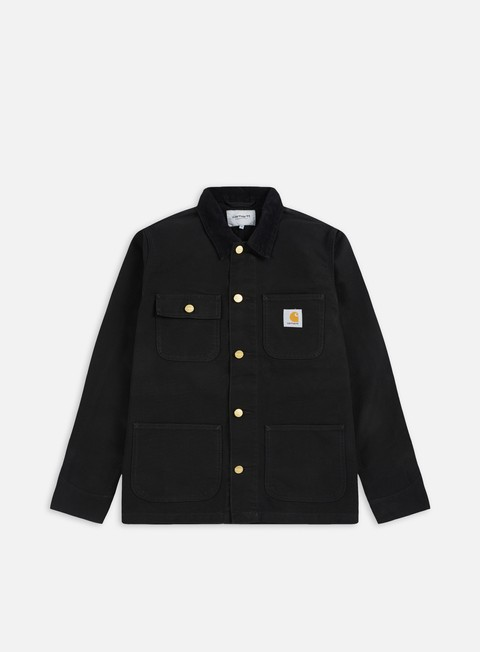 giacche carhartt michigan chore coat black black rinsed