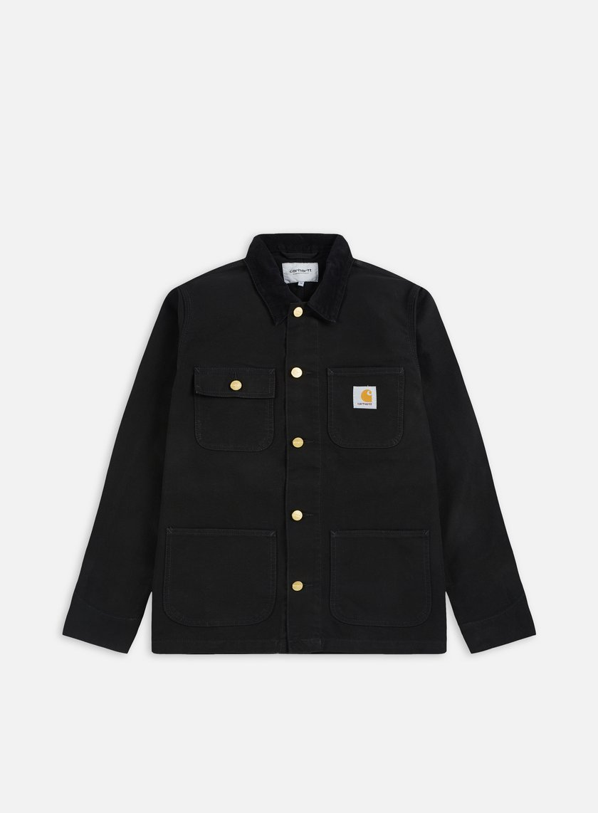 Carhartt - Michigan Chore Coat, Black/Black Rinsed