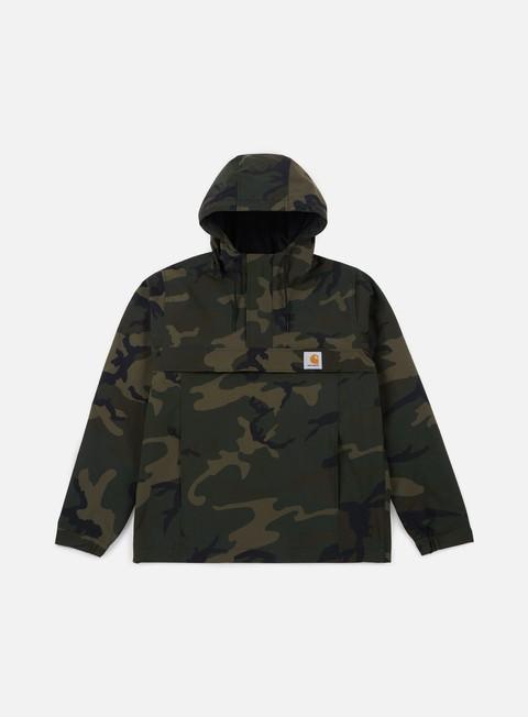 giacche carhartt nimbus spring pullover jacket camo combat green
