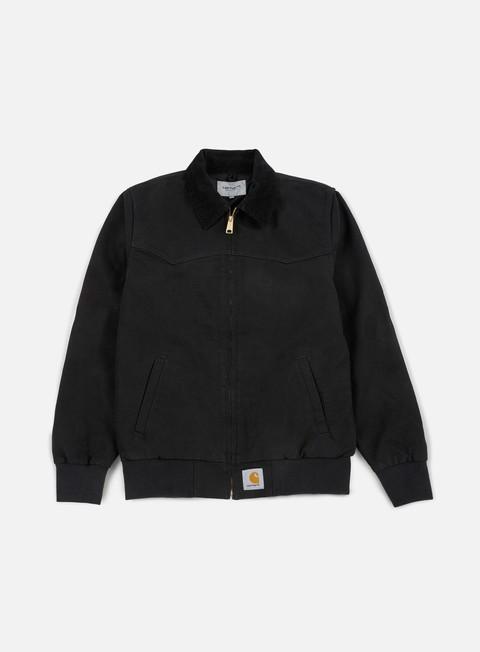 giacche carhartt santa fe jacket black