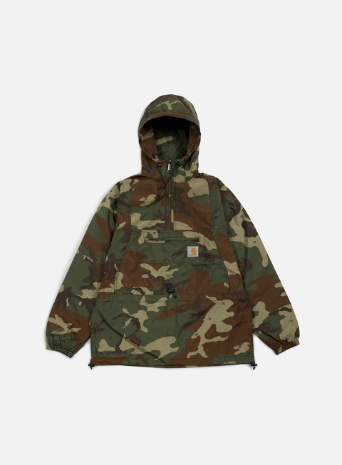 giacche carhartt spinner pullover camo 313 green