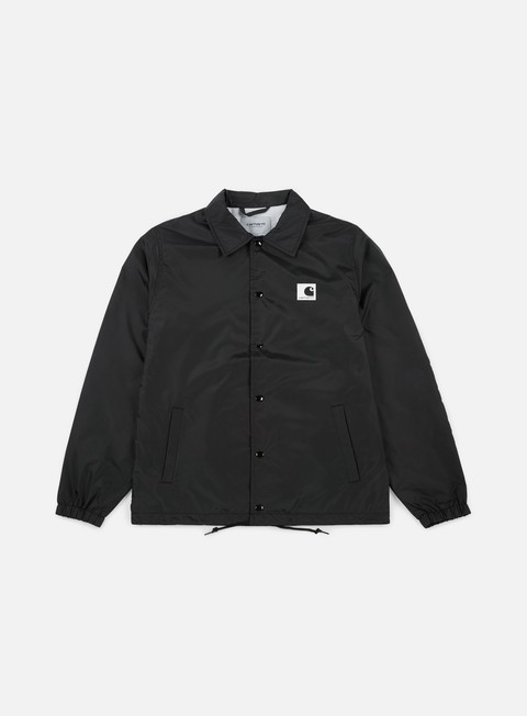 giacche carhartt sports coach jacket black wax