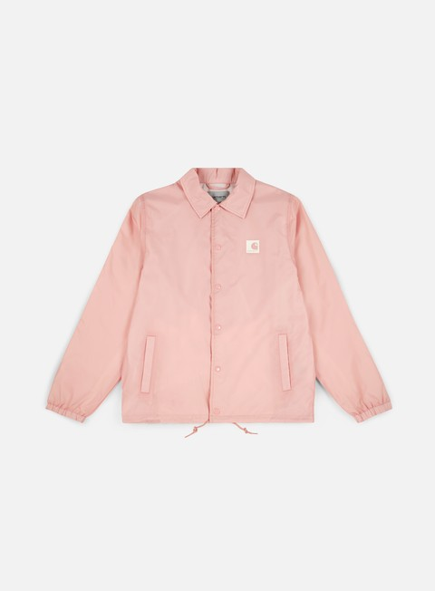 giacche carhartt sports coach jacket soft rose wax