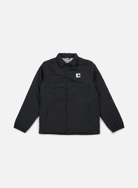 giacche carhartt sports pile coach jacket black wax