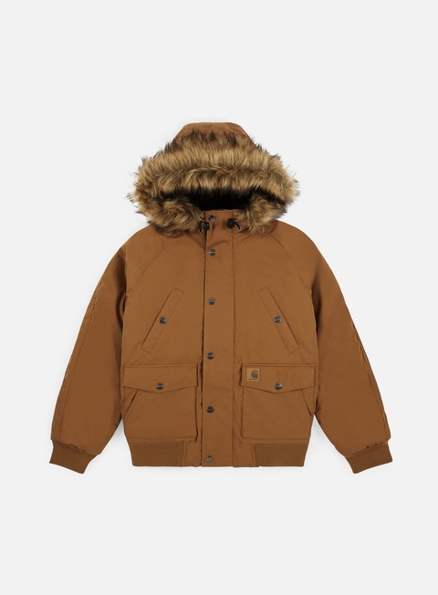 giacche carhartt trapper jacket hamlton brown black