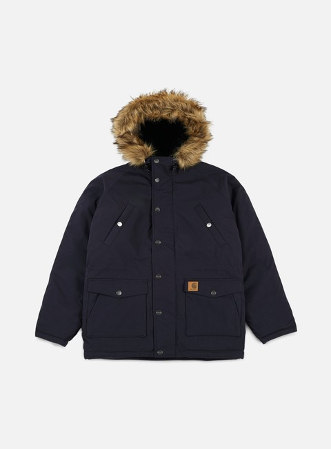 giacche carhartt trapper parka jacket dark navy black