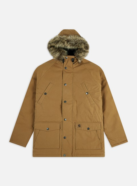 giacche carhartt trapper parka jacket hamilton brown
