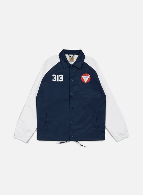 giacche carhartt york jacket blue white