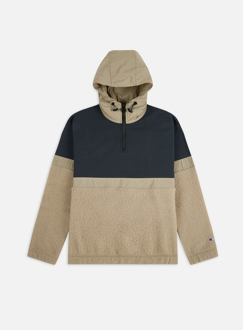 Maglioni e Pile Champion Half Zip Hooded Hybrid Jacket