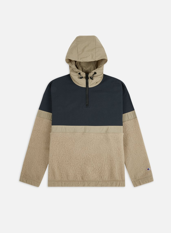 Champion Half Zip Hooded Hybrid Jacket