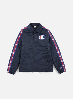 Champion - Heavy Satin Coach Jacket, Navy 1