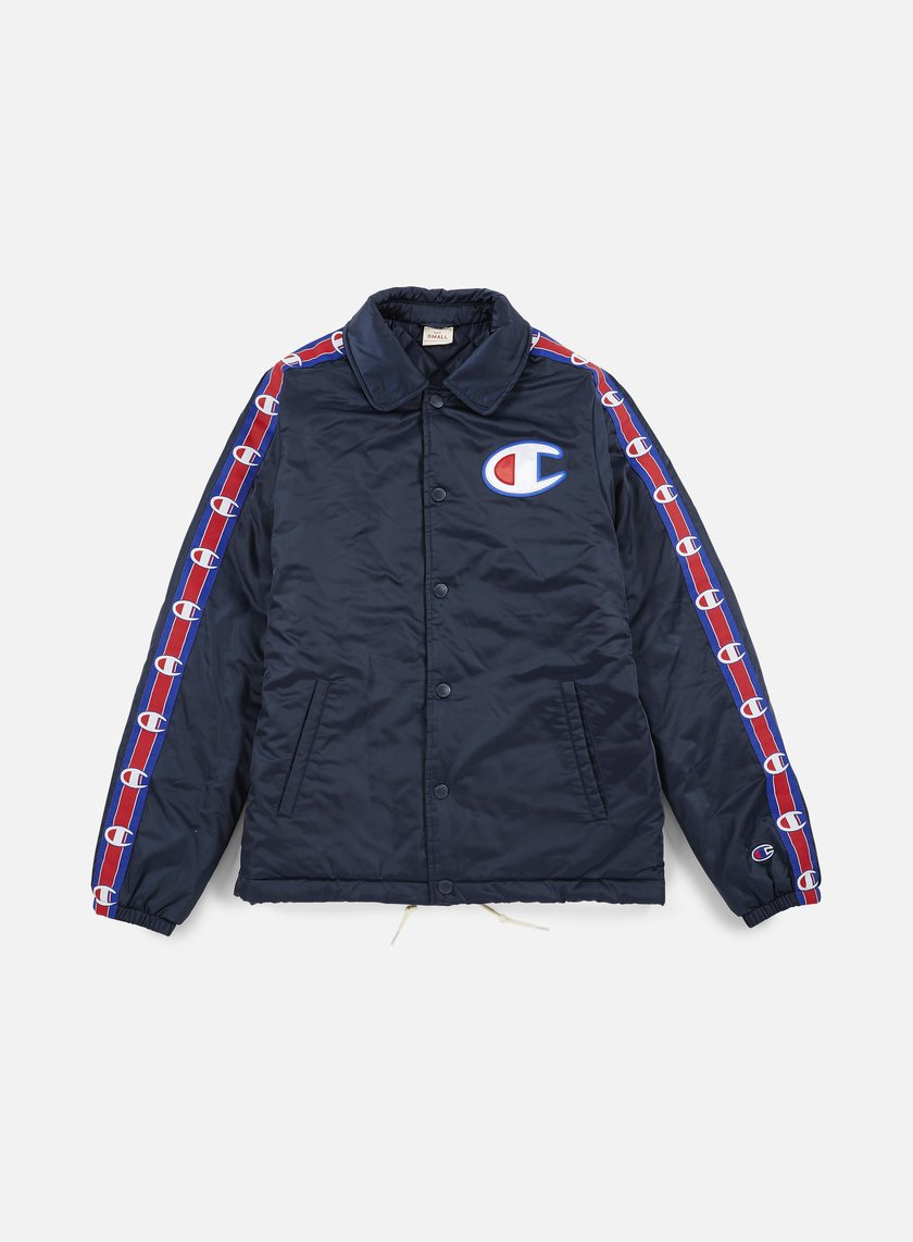 Champion - Heavy Satin Coach Jacket, Navy