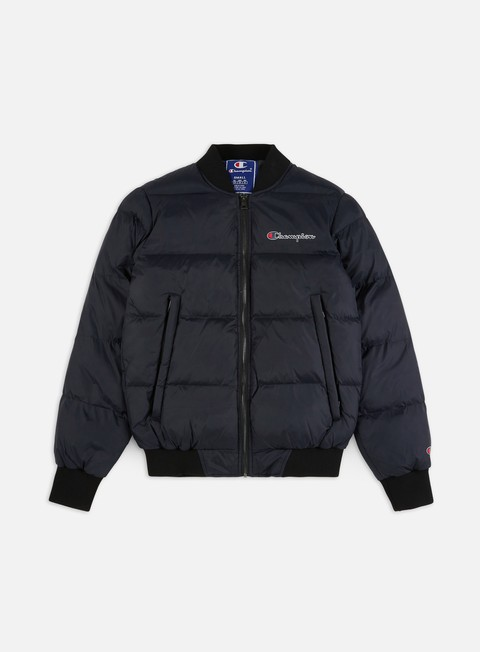 Down Jackets Champion Script Logo Bomber