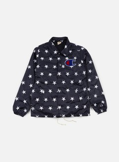 Champion - Stars Coach Satin Jacket, Navy 1