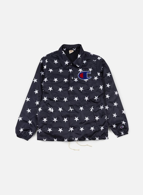 giacche champion stars coach satin jacket navy