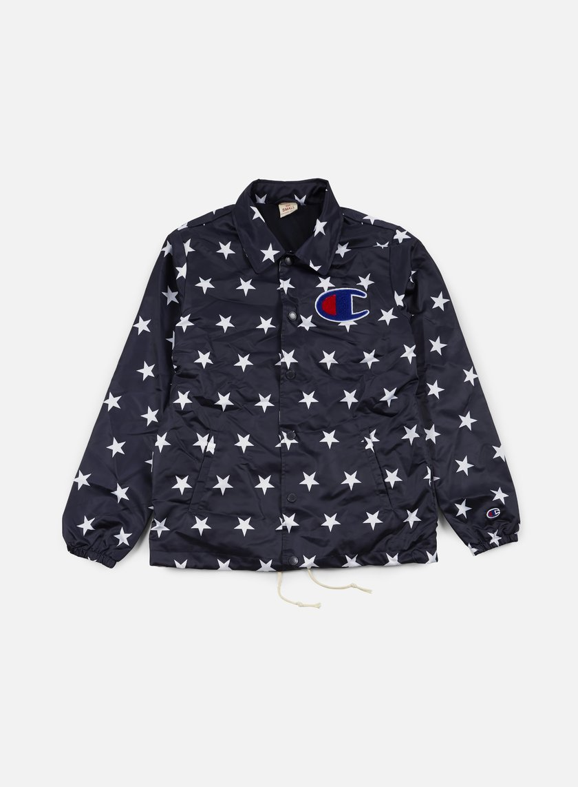 Champion - Stars Coach Satin Jacket, Navy