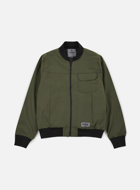 Chrome Utility Bomber Jacket