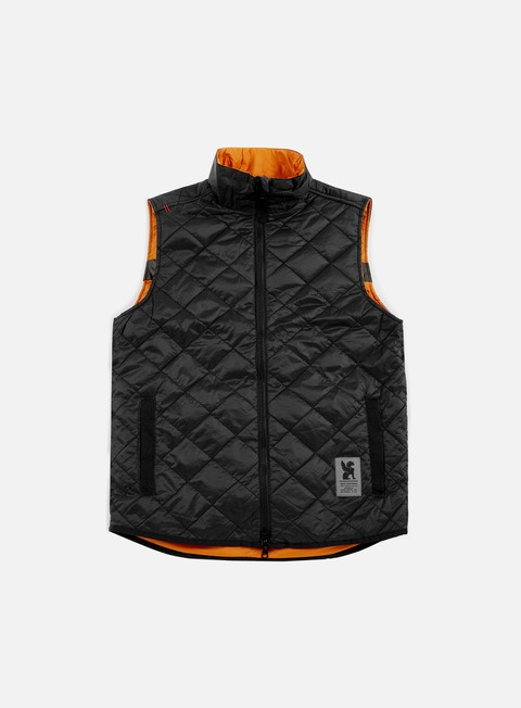 giacche chrome warm vest black orange