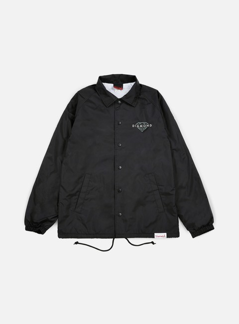 giacche diamond supply brilliant coaches jacket black