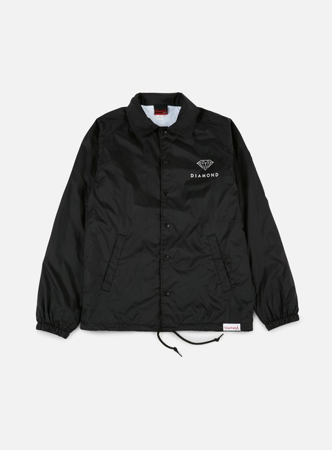 giacche diamond supply futura sign coach jacket black